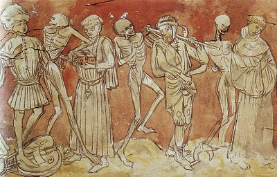 19 octobre - Art du Moyen Âge - Danse macabre de la Chaise-Dieu (vers 1480)