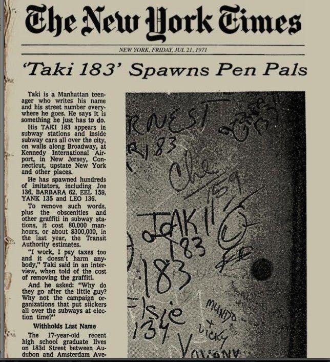 1.TAKI 183 NYTimes