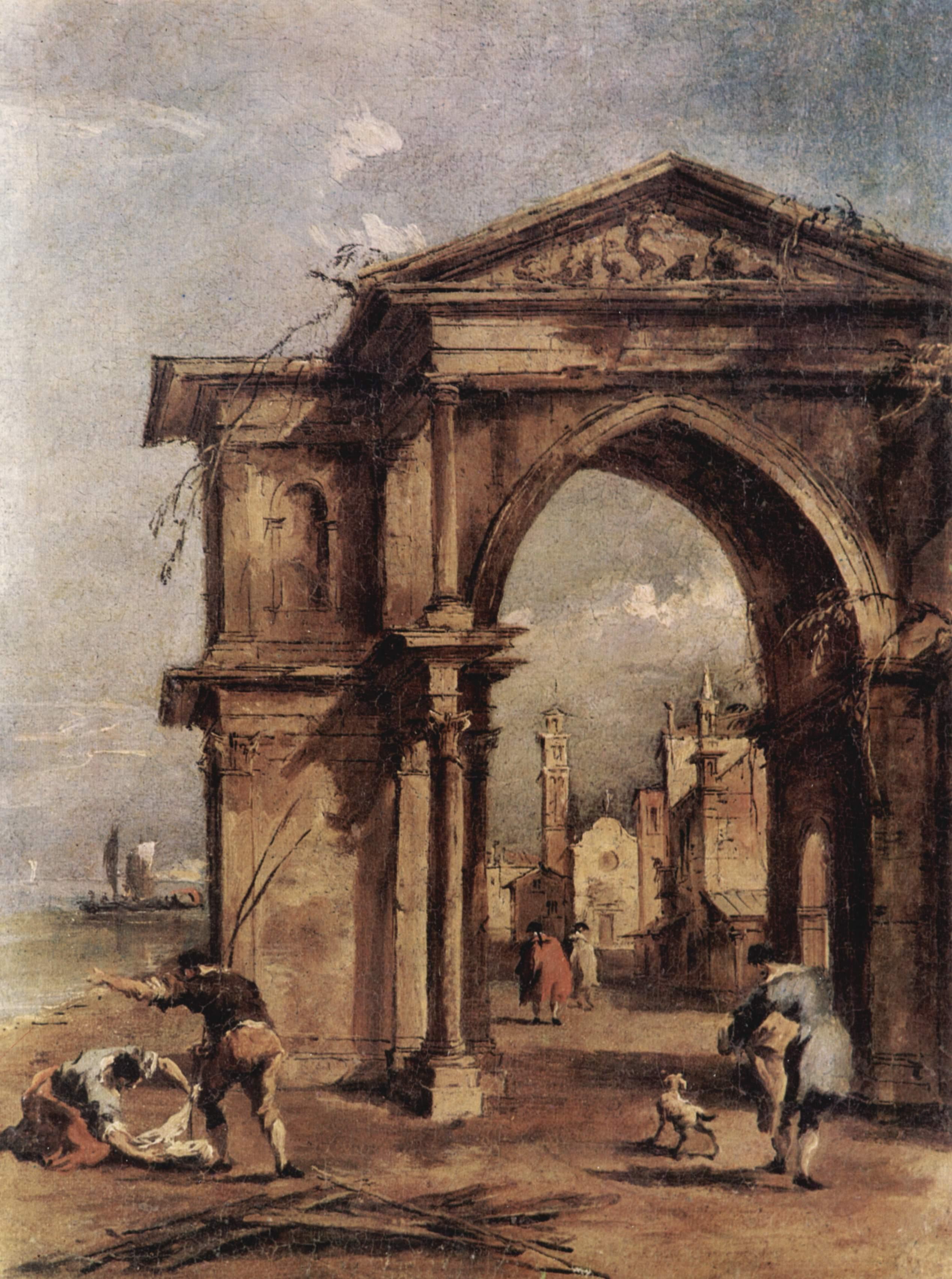 Francesco Guardi: Riva Degli Schiavoni (Venice)