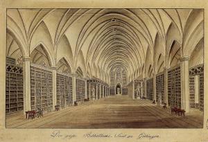 Besemann_-_Grosser_Bibliothekssaal_Goettingen_(um_1820)