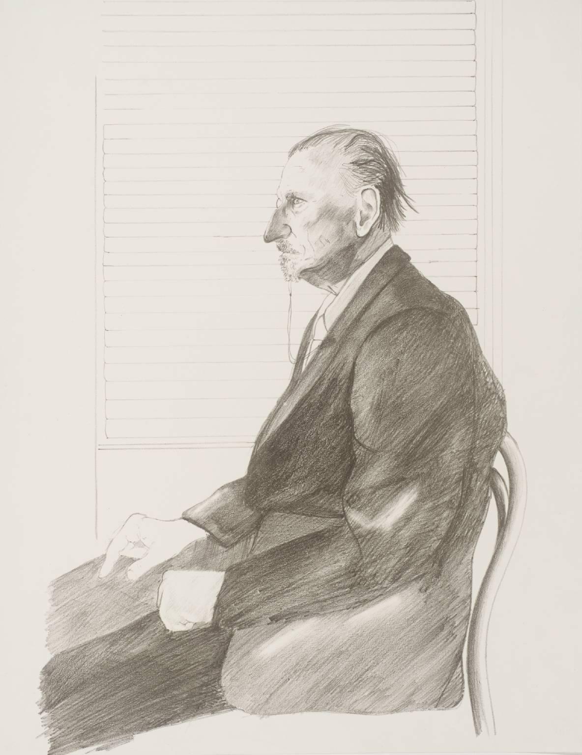 The Print Collector (Portrait of Felix Man) 1969 by David Hockney born 1937