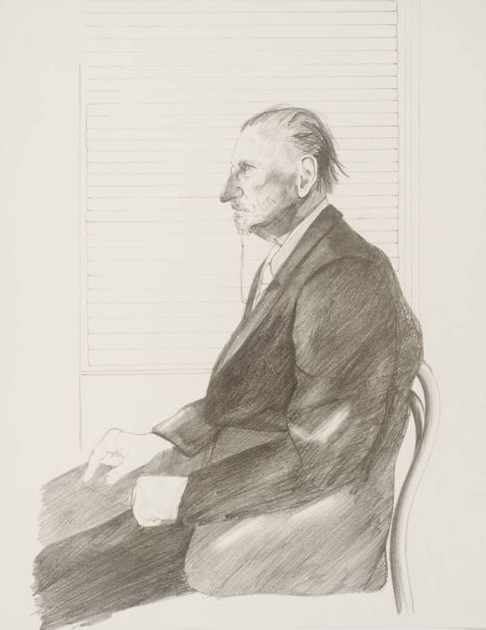 The Print Collector (Portrait of Felix Man) 1969 by David Hockney born 1937