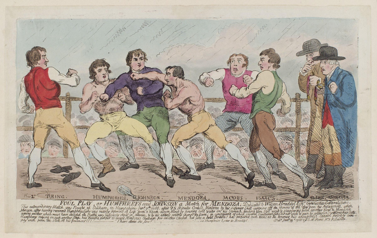 Foul_play,_or_Humphreys_and_Johnson_a_match_for_Mendoza...'_(Richard_Humphries;_Daniel_Mendoza)_by_Samuel_William_Fores